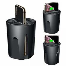 10W Veloce Caricatore Senza Fili Caricabatteria Da Auto Tazza per il iPhone 11 Pro XS XR/X/8 SAMSUNG Galaxy s9/S8/Note10/Note9 Tazza auto del supporto di Ricarica