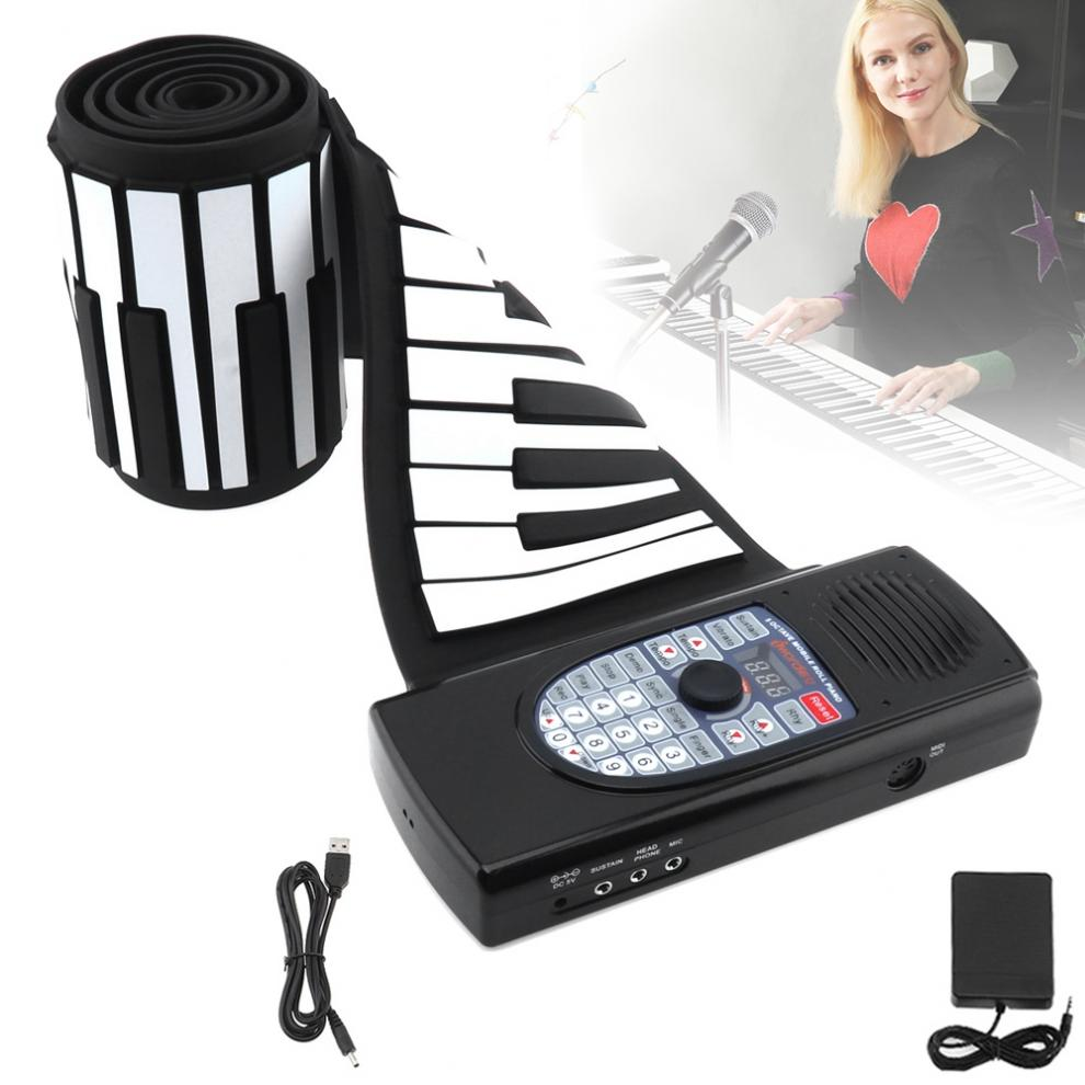 Impartial 88 Keys Usb Midi Roll Up Piano Rechargeable Electronic Portable Silicone Flexible Keyboard Organ Speaker Bluetooth Connection Beautiful In Colour