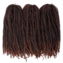 Black Star Marley Braids Twist Crochet Braiding Hair Burgundy Kanekalon Synthetic Afro Kinky Curly Extensions