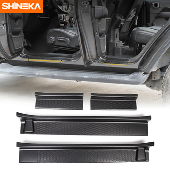 Threshold For Jeep Wrangler Gladiator JT Door Sill Plate Scuff Entry Guard Protector Welcome Pedal For Jeep Wrangler JL 2018+ for jeep renegade 2016 2017 2018 2019 door sill plate protector scuff entry guard pedal cover trim sticker steel car accessories