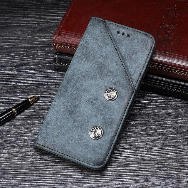 Étui pour Umidigi A7 Pro housse de protection haute qualité rétro étui en cuir pour Umidigi A7 Pro housse étui pour téléphone daffaires