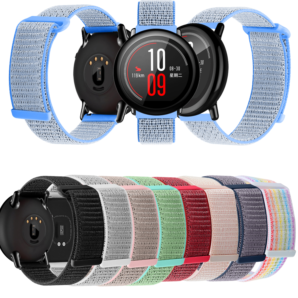 Watchband For Amazifit Sports Smart Watch Leisure Nylon Watch Strap Colorful Adjustable Watchband Correa de reloj