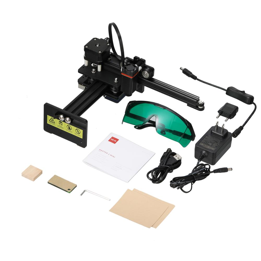 NEJE High Seepd Engraving Machine,2.5W Output Power,Mini Engraving Machine Carved Material for Logo//Wood//MDF//Balsa//Paper//Fabric//Plastic//Leather//Aluminum,etc. Working Area 110X120mm