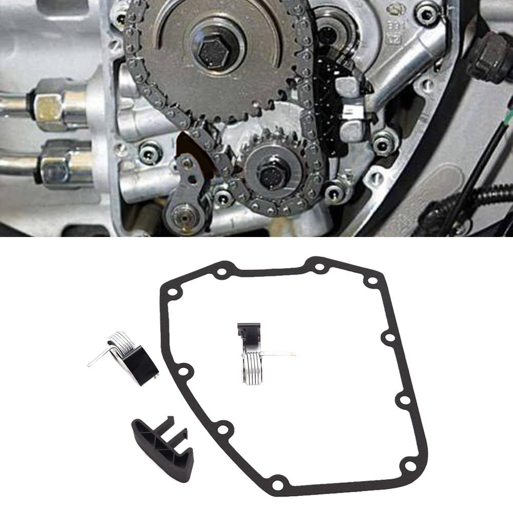 Cam Chain Tensioner Outer/Inner Complete Kit W/Guide And Cover Gasket For 1999-2006 Harley Twin Cam