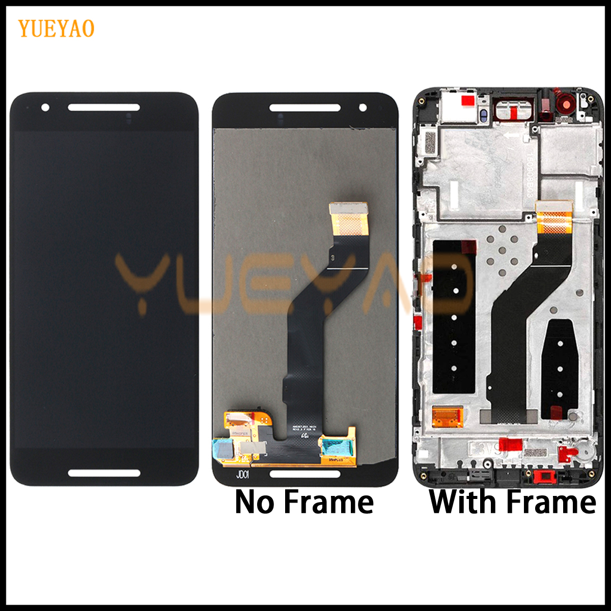 Black Nexus 6P LCD For Huawei Google Nexus 6P LCD Display Touch Screen Digitizer with Frame Assembly Replacement Nexus 6P LCD