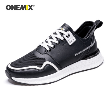 ONEMIX Men Shoes Youth Leather Surface Breathable Mesh Sneaker Classics Sneakers Off White Women Shoe