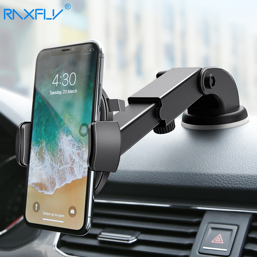 RAXFLY Car Phone Holder For iPhone Samsung 360 Rotation Suction Cup Navigation Car Holder Mobile Phone Holder Car Stand Support title=