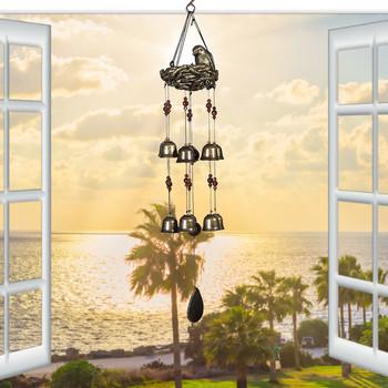 4 # ptak z żywicy #8217 s Resta dzwonek wietrzny ozdoby ogród taras balkon dekoracji wnętrz dzwonek wietrzny s Decor akcesoria do dekoracji wnętrz tanie i dobre opinie ISHOWTIENDA CN (pochodzenie) MASCOT Materiał organiczny Retro i nostalgia Stare meble