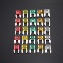 120pcs/pack Mini Standard Blade Fuse Set Car Auto 5A 10A 15A 20A 25A 30A For Truck