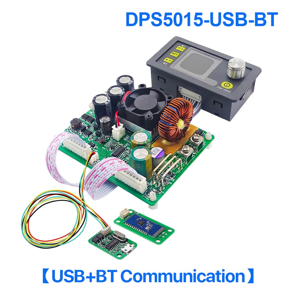 DPS5015-USB-BT Communication Constant Voltage Current DC Step-down Power Supply Module Buck Voltage Converter LCD Voltmeter