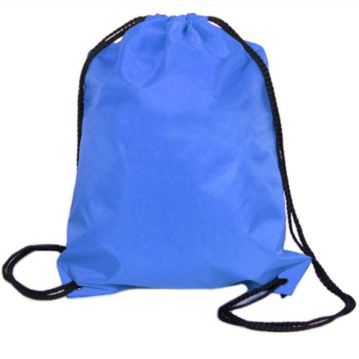 Bag Drawstring Bag Unisex Drawstring Backpack Packet Solid Bag Nylon Drawstring  Sport Travel Outdoor Backpack Bags