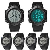 Reloj de pulsera deportivo para hombre, cronómetro Digital Lcd, resistente al agua, automático, de lujo, masculino