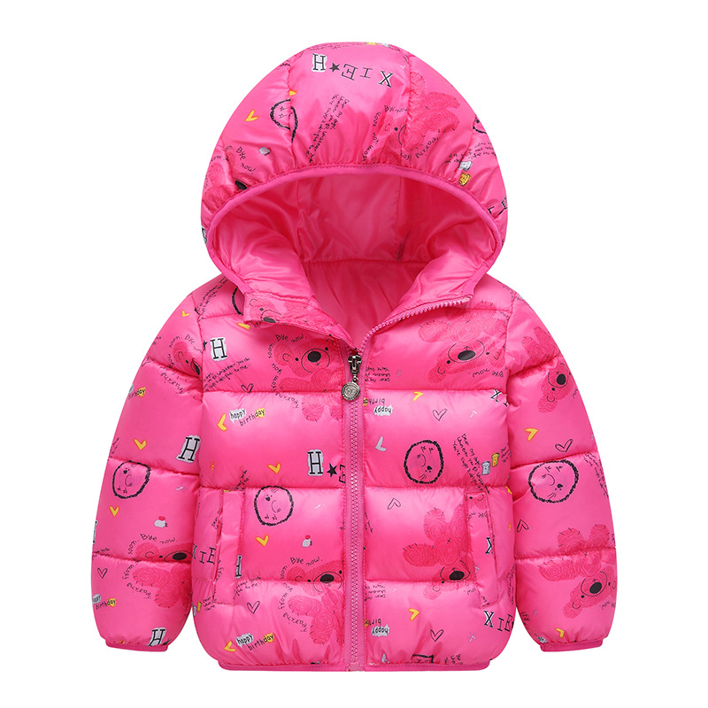Autumn Boys Down Jackets Hooded Outerwear Children Cartoon Warm Jacket Fashion Baby Kids Coat Clothes Girls Outerwear Jacket 5