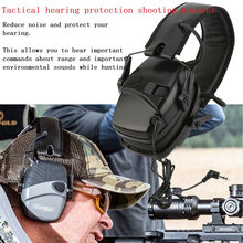 Tactics hunting electronic shooting earmuffs outdoor sports anti-noise amplification hearing protection headphones foldable