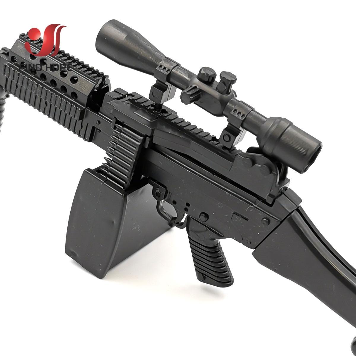 1//6 AWM MK14 DSR PSG-1 SVD TAC Sniper Rifle Weapon Assemble Gun Model 6Pcs//set