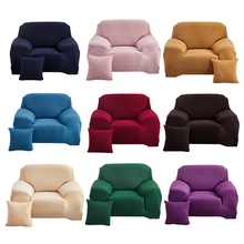 1 2pcs elastic sofa covers for living room l shape sectional slipcovers strench armchair couch covers 1 2 3 4 seater funda cover Solid Color Stretch Slipcovers Sectional Elastic Stretch Sofa Cover for Living Room Couch Cover Armchair Cover 1/2/3/4 Seater