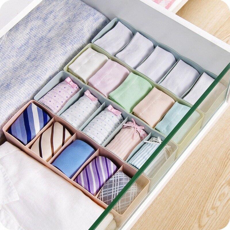5-grids Multi-purpose Underwear Storage Box Socks Storage Box Stackable Drawer Finishing Box Storage Organizer Home Supplies
