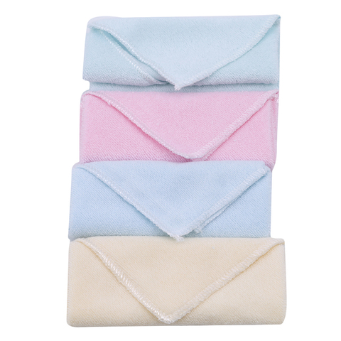 toalhas de bebe 4 pecas set 100 algodao colorido confortavel bebe pequeno quadrado guardanapo de