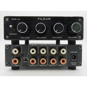 Image 3 - 1 entrée 4 sorties RCA Audio distributeur amplificateur sans perte séparateur Audio NE5532 Op Amp avec amplificateur de contrôle du Volume de tonalité