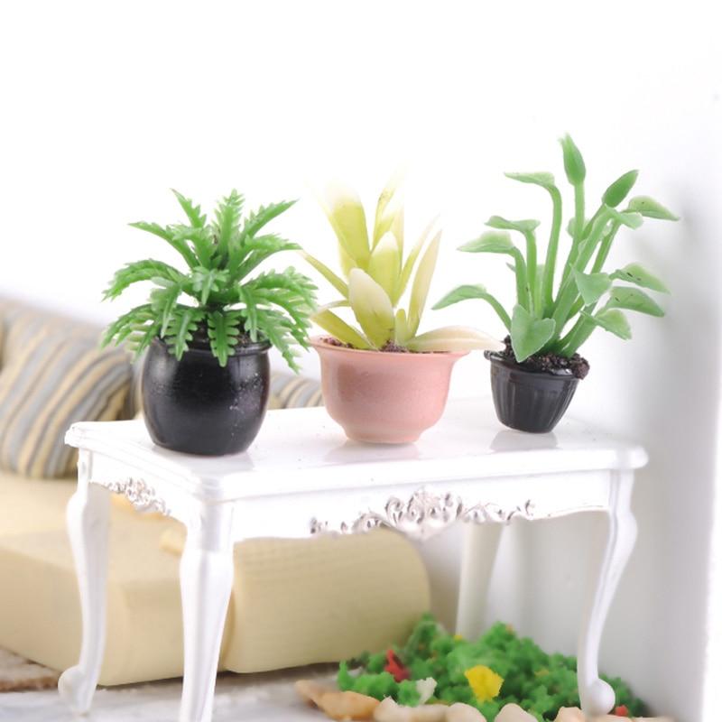 10pcs Model Material DIY Finished Flower Pot Indoor Sand Table Material Model Building Send Randomly 1:20 1:25 1:30 Scale