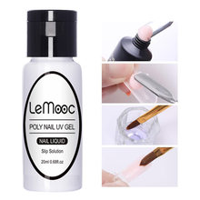 Lemooc Quick Builder Poly Uv Gel Polish Nagels Permanente Vloeibare Anti Oplossing Pijnloos Acryl Nail Art Snel Extension Gereedschap(China)