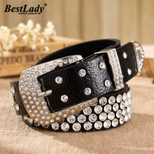 Best lady New Korean Women Belt For Wedding Bohemian Female Models Gifts Rhinestone Inlaid Wide Girls Party  Accessories