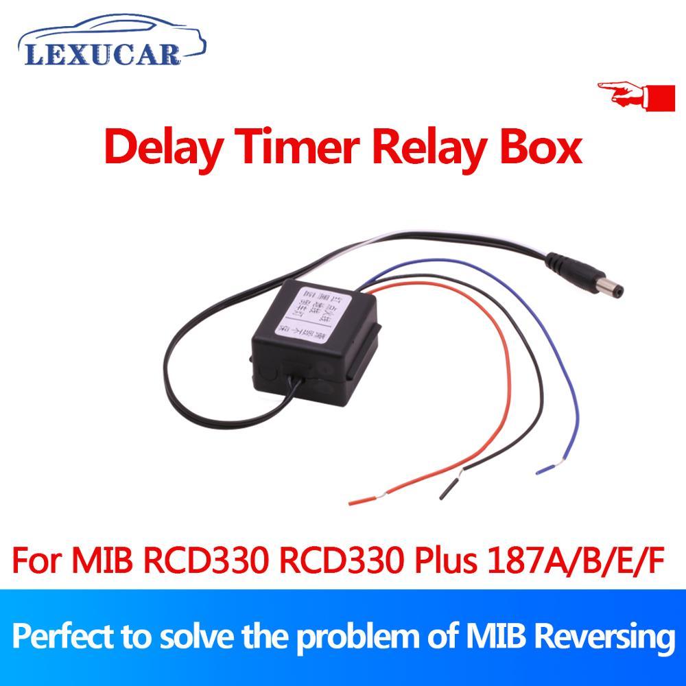 Caixa de Dispositivo de Retardo de Tempo Para RCD330 lexucar Plus AV Câmera de Visão Traseira Para VW Golf Jetta Tiguan Vento