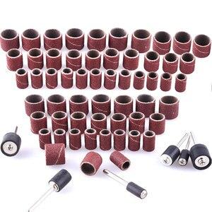Image 2 - Bande de ponçage Abrasive pour Dremel, outil rotatif, accessoires pour travaux de meulage des ongles, mandrin, tambour de ponçage