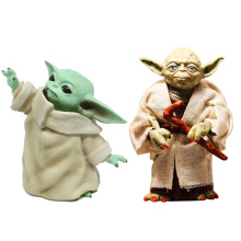 цены Star Wars Yoda Darth Vader Action Figure Doll Toys The Force Awakens Jedi Master Yoda baby Anime Figures Lightsaber ornaments
