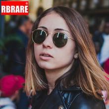 RBRARE Classic Polarized Metal Round Sunglasses Women Luxury Glasses Retro Men Sun Vintage Mirror Oculos De Sol Feminino