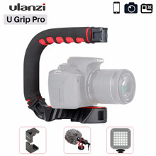 Ulanzi u-grip pro câmera estabilizador equipamento de vídeo gaiola triplle frio sapato handheld steadicam para iphone 11 gopro 7 6 5 canon sony