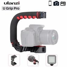 Ulanzi U Grip Pro กล้อง Stabilizer วิดีโอ RIG CAGE Triplle เย็นรองเท้า Handheld Steadicam สำหรับ iPhone 11 GoPro 7 6 5 Canon SONY