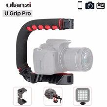 Ulanzi u grip Pro stabilizator kamery zestaw wideo klatka Triplle zimny but ręczny Steadicam dla iPhone 11 GoPro 7 6 5 Canon Sony