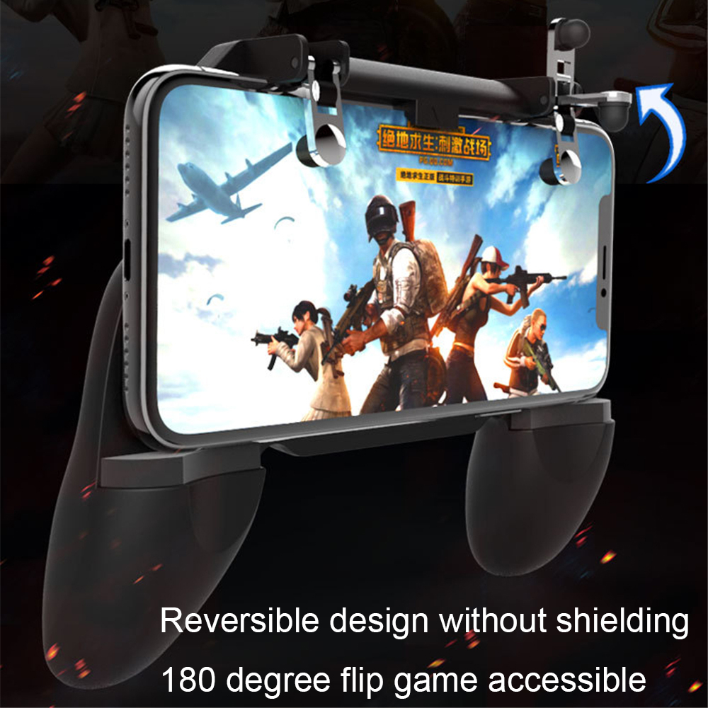 3 in 1 Portable Gamepad Mobile Controller for iOS/Android Smartphone with Trigger Button Touch Head