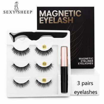 SEXYSHEEP Magnetic Eyelashes Eyeliner Eyelash Curler Set5 Magnet Natural Long Magnetic False Eyelashes With Magnetic Eyeliner 1