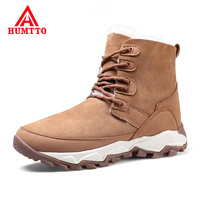 Fashion Plus Velvet Casual Shoes Woman Genuine Leather Lace up Womens Winter Boots Waterproof Windproof Outdoor Snow Boots