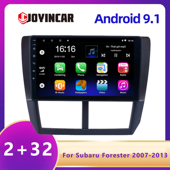 JOYINCAR 2 Din Android For Subaru Forester 2007 2008 2009 2010 2011 2012 2013 android 9.1 Car DVD Multimedia Player Stereo radio image