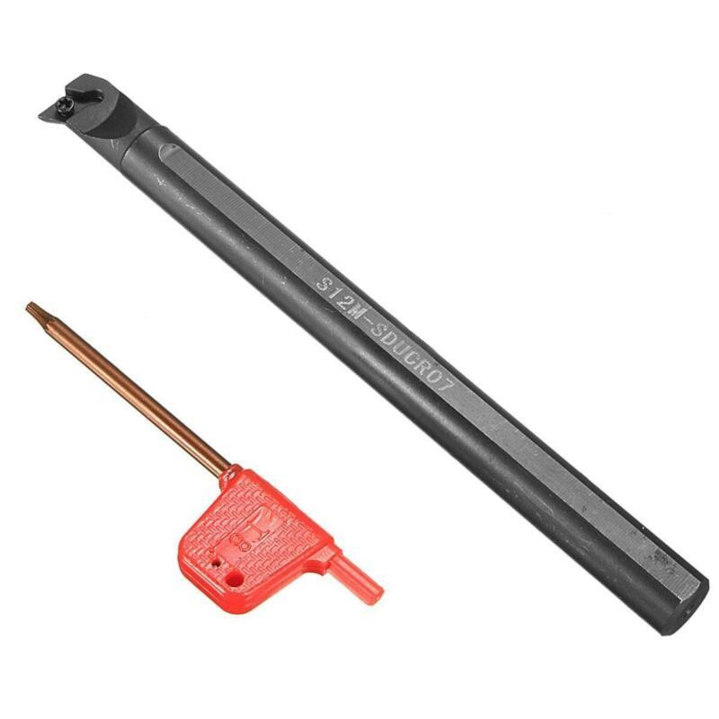 S12M-SDUCR07 Lathe Turning Tool Holder Boring Bar DCMT0702 Carbide Stainless Kit