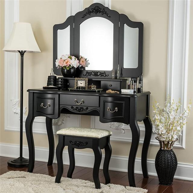 Vanity Set  w/ 3 Mirrors and 5 Drawers  1
