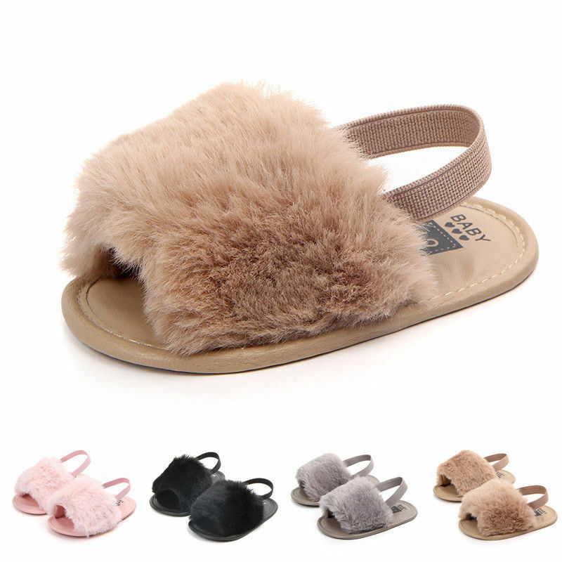 Fashion Newborn Infant Baby Girl Anti-slip Flip-flop Sandals Toddler Kids Shoes Prewalker First Walkers Trainers 0-18M