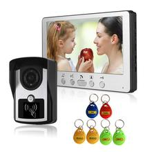 RFID וידאו אינטרקום בית וידאו דלת טלפון IP55 עמיד למים מצלמה 7in צבע צג