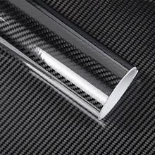 152 CENTÍMETROS PVC 5D Filme Folha de Vinil Fibra de Carbono Car Envoltório Do Rolo Adesivo Decalque Preto DIY Adesivo À Prova D' Água para Todos Os Climas fita de Volta NOVO