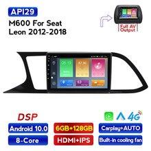 MEKEDE 1280X720 6G + 128G Android 10 para asiento Leon 3 2012 - 2020 auto Radio Multimedia reproductor de Video GPS de navegación 2 din dvd