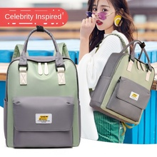 Oxford Cloth Contrasting Color Backpack High School Student Backpack Female Large Capacity Lightweight Backpack Student Fashion