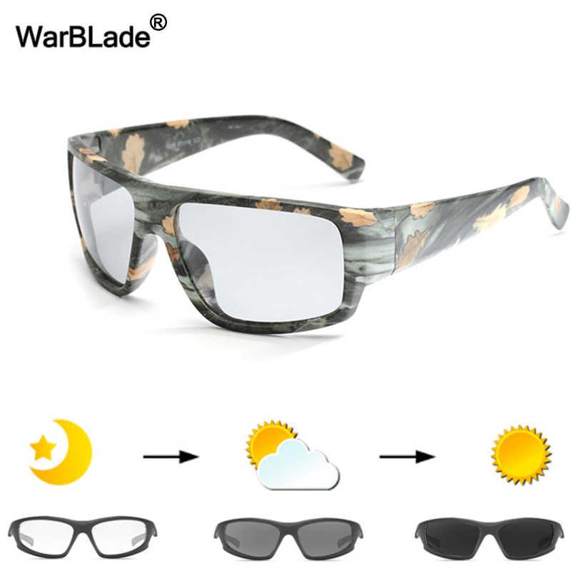 WarBLade, мужские фотохромные солнцезащитные очки, поляризационные солнцезащитные очки, HD очки для вождения, очки-хамелеоны, UV400, Дневные И Ночные очки для вождения