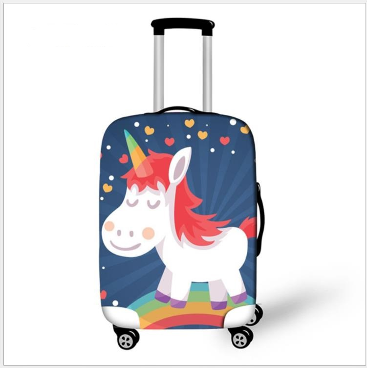 Unicorn Thick Luggage Protective Covers Stretch Suitcase 3D Printing Kids Trolley Cases Cover For 18-32 Inch