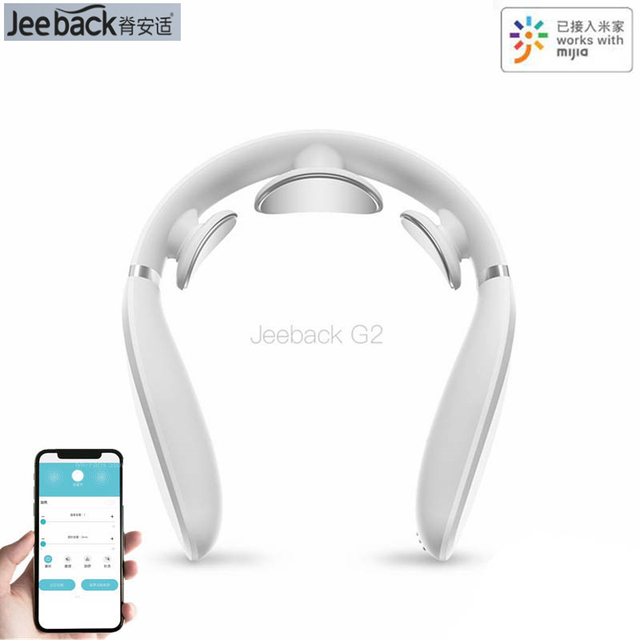 Youpin JeebackคอนวดG2ปากมดลูกTENS PulseกลับคอTensความร้อนอินฟราเรดสุขภาพCare RelaxทำงานสำหรับMijia app