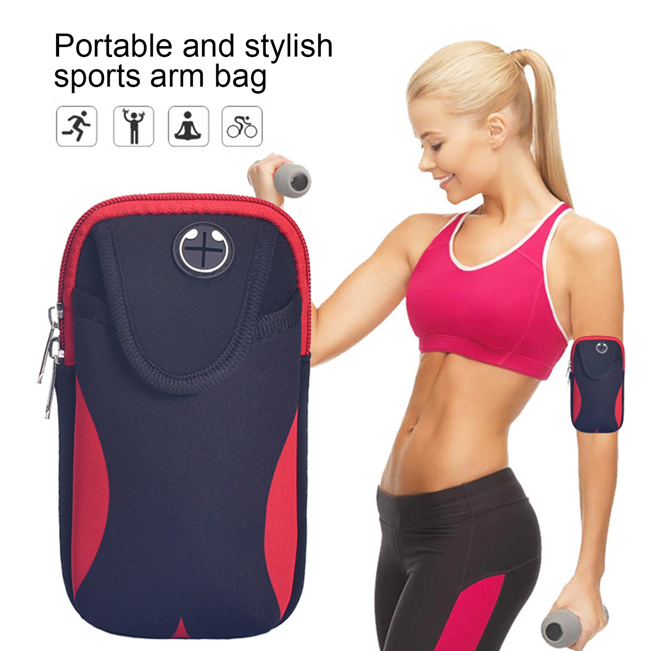1pcs Universal Running Armband Arm Cell Phone Holder Sports Armband for Fitnes Gym Workouts Mobile Phone Bag Case for Running