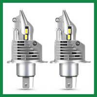 Bombilla LED H4 para faro delantero de coche, lámpara de 16000LM, 6500K, 100W, 12V, Luz De Carretera, haz bajo