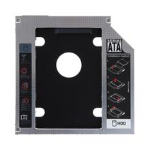 12.7mm Universal Aluminum HDD Caddy 2.5inch SATA HDD SSD Hard Drive Case Caddy Adapter Bay External Optical DVD Bay Adapter new sata 2nd hdd ssd hd hard disk drive caddy adapter bay for hp docking station 12 7mm
